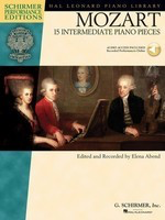15 Intermediate Piano Pieces - Wolfgang Amadeus Mozart - Piano G. Schirmer, Inc. Piano Solo /CD