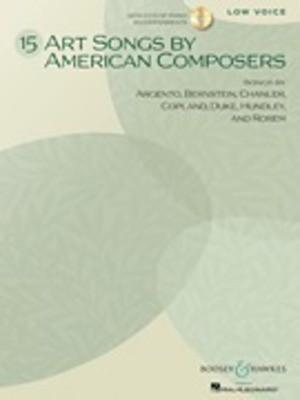 15 Art Songs by American Composers - Low Voice, Book/CD - Various - Classical Vocal Boosey & Hawkes /CD
