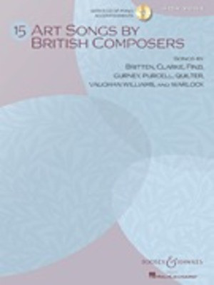 15 Art Songs by British Composers - High Voice, Book/CD - Various - Classical Vocal High Voice Boosey & Hawkes Vocal Score /CD