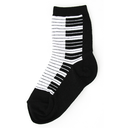 [708084819] Socks - children 7-10 years. Black with a white keyboard. Foot Traffic