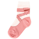 [708084821] Socks - children 7-10 years. pink with the image of a ballet shoe. Foor Traffic.
