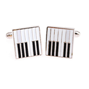 [7080305] Cufflinks Square Piano Keys in Sterling Silver