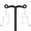 [7076064] Earrings - Drop/Hanging  Quavers Stylised Silver - Tomas