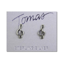 [7076061] Earrings - Small 1cm Sterling Silver Stud Treble Clefs - Tomas