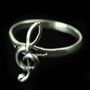 [70708070M] RING STERLING SILVER TREBLE CLEF CURVED MEDIUM SIZE 7