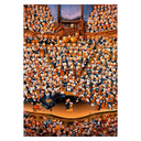 [70808119] LOUP, ORCHESTRA 2000pc Cartoon themed 2000 pc jigsaw from French artist Jean-Jackques Loup. 68cm x 96cm.