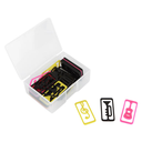 [70808273] BOX OF PAPER CLIPS RECTANGULAR WITH MUSIC SYMBOLS & INSTRUMENTS.