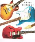 [70809847] Greeting Card - 3 Electric guitars. Happy Birthday. Must Josh by cardmix.