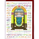 [7080820] Greeting Card - Colourful Jukebox 'Happy Birthday To You'