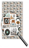 [70809255] Wrapping Paper - vintage records, cassettes, radios & tape players. Quire 5963