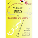 [S-MVK171703] World Music Duos Volume 1 - Clarinet/Violin arranged by Martin Keller MVK171703