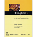 [S-1102836680] 3 Ragtimes - Flute (or Violin)/Cello/Piano Accompaniment Zimmermann ZM34050