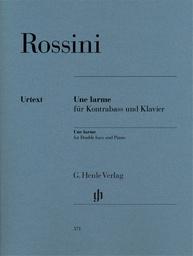 [S-HN571] Rossini - Une Larme - Double Bass/Piano Accompaniment Henle HN571