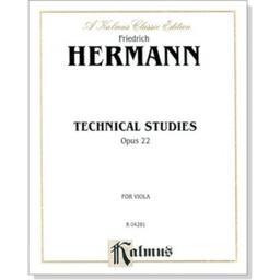[S-K04281] Hermann - Technical Studies Op22 - Viola K04281