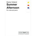 [S-787.3/HOL1] Holland - Summer Afternoon - Viola Australian Music Centre 787.3/HOL 1