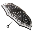 [7080799] Mini Umbrella - Black & White Piano Design - Unisex