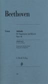 [S-HN1043] Adelaide Op. 46 for High Voice - Ludwig van Beethoven - Classical Vocal High Voice G. Henle Verlag