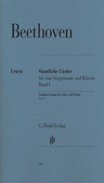 [S-HN533] Complete Songs for Voice and Piano, Volume I - Ludwig van Beethoven - Classical Vocal G. Henle Verlag