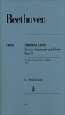 [S-HN534] Complete Songs for Voice and Piano, Volume II - Ludwig van Beethoven - Classical Vocal G. Henle Verlag