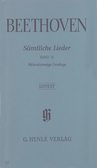[S-HN542] Complete Songs for Voice and Piano, Vol 3 - Songs for several voices with Piano, partly for choir - Ludwig van Beethoven - Classical Vocal G. Henle Verlag