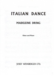 [S-M570054299] Italian Dance - for Oboe and Piano - Madaleine Dring - Josef Weinberger