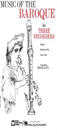 [S-EM6056] Music of the Baroque - Score & Parts - Various - Recorder Edward B. Marks Music Company Recorder Ensemble