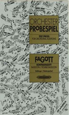 [S-P8662] TEST PIECES FOR ORCHESTRAL AUDITIONS - BASSOON - ORCHESTER PROBESPIEL - PETERS