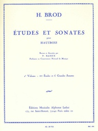[S-AL20753] ETUDES AND SONATAS VOL 2 FOR OBOE - BROD - OBOE - LEDUC